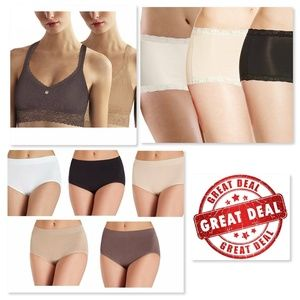 ✨NEW Lot of 4 DKNY Bralettes, Boyshort Panties S